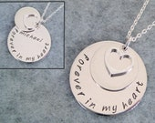 LAST ONE! Personalized In Memory Necklace - Forever In My Heart with Hidden Name - Memorial Jewelry