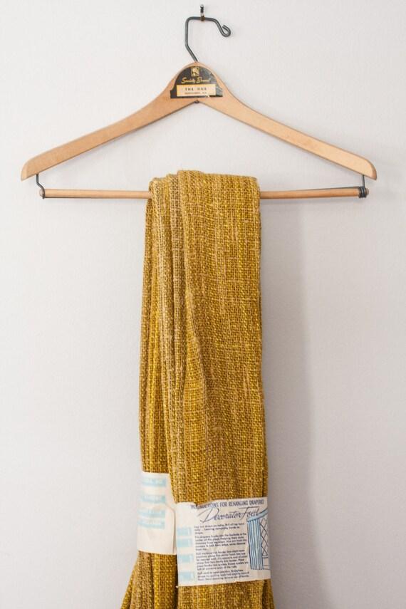 Mid Century Modern Pinch Pleat Curtain In Mustard Yellow