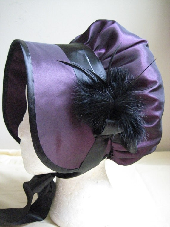 CUSTOM Regency Bonnet. Jane Austen. Shaped brim. 'LUCY' Your choice of fabric/colour/trims.