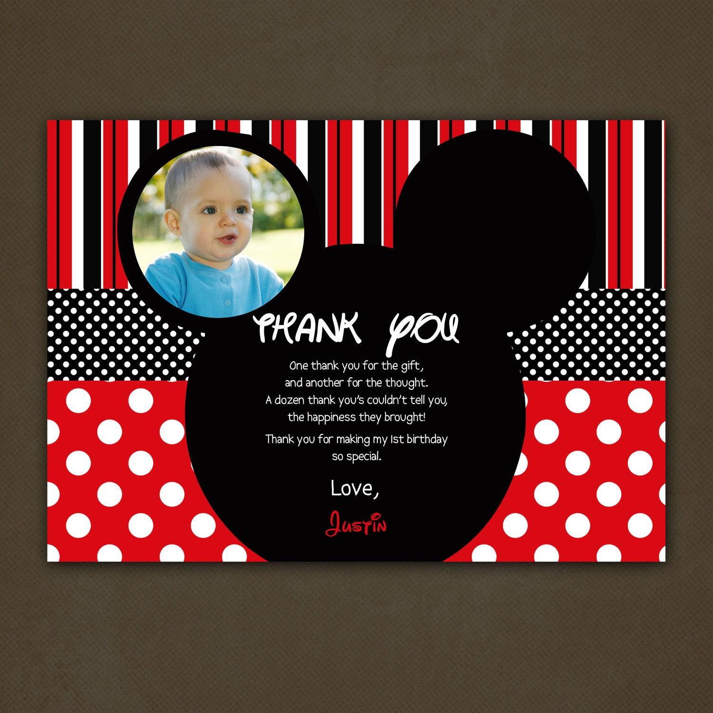 Birthday Invitation Card Mickey Mouse was good invitation sample