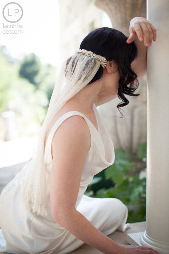 Amazing Grace, Antique Silk Lace Veil