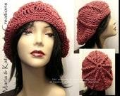 Slouchy crochet hat- all handmade
