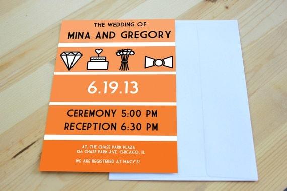 DIY printable- icon invitation set- INSTANT DOWNLOAD