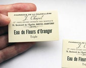 Reserved for Christiana - French apothecary labels - medicine 1920s unused labels - perfect for collage and assemblage
