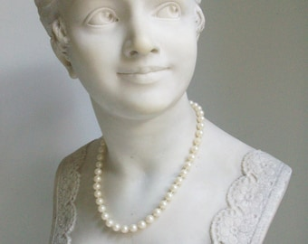 """18"""" Faux Pearl Bead Necklace //"""