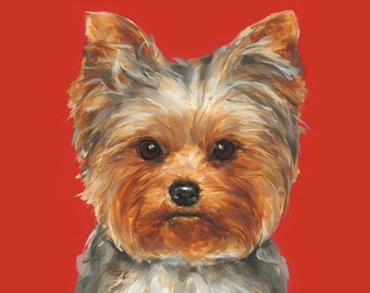 Yorkshire Terrier art print - Ltd. Ed Collectable No. 4