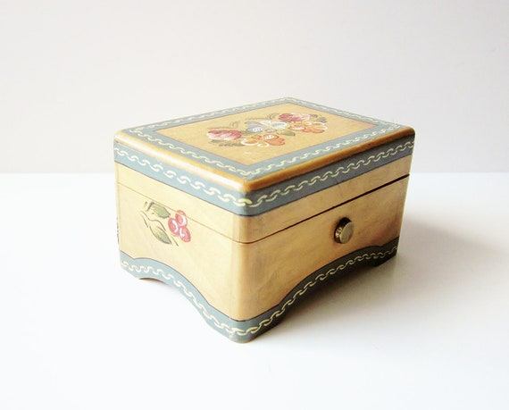 Wood Music Box Vintage Reuge Holiday In Switzerland