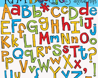 KPM Primary alpha digital clipart clip art