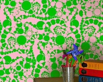 Wallpaper in Sand Jamboree Pattern 4 colorways