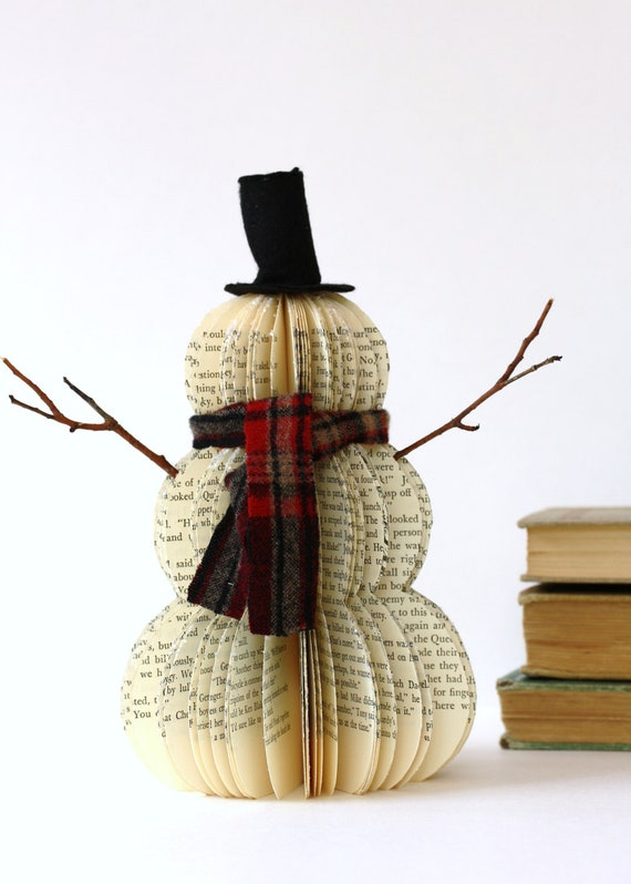 Vintage Book Snowman FROSTY teacher gift
