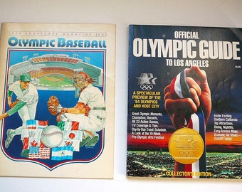 1984 OLYMPIC GUIDE & Scorecard Baseball Magazine
