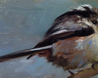 Longtailed Tit - Bird Painting - Open Edition Print of Original Oil Painting