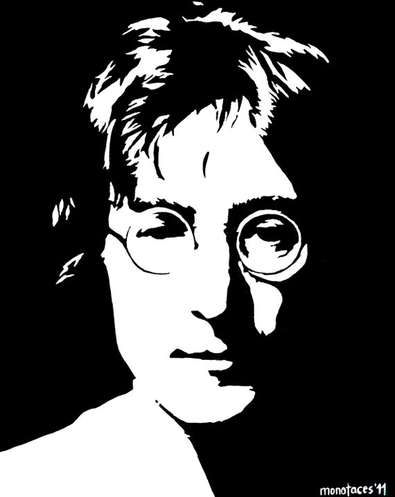 Line Drawing John Lennon : Unavailable listing on etsy