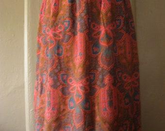"""paisley park """""""" vintage midi skirt """""""" ON SALE"""