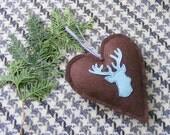 Valentine heart ornament, hostess gift,door knob hanger,decoration