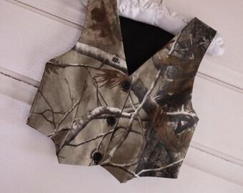 Boys vest, real tree vest, Camo boys vest, camo vest, wedding vest,