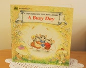 Vintage A Busy Day Children's A Golden Book by Cyndy Szekeres