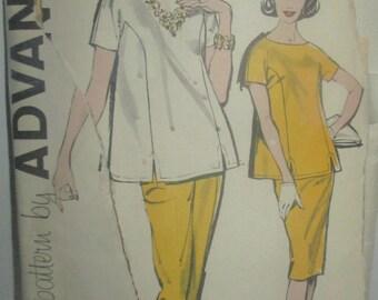 Advance 9834 Womens 60s Maternity Blouse Pants Skirt Sewing Pattern Size 14 Bust 34