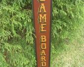 Game Board Sign Primitive /  Folk Art Sign