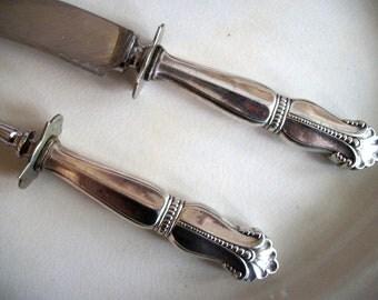 Vintage Sterling Silver Carving Set