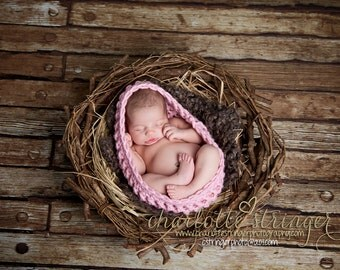 Newborn Baby Photography Bowl Egg Pick Your Color- MADE TO ORDER