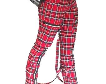 Bondage tartan pants