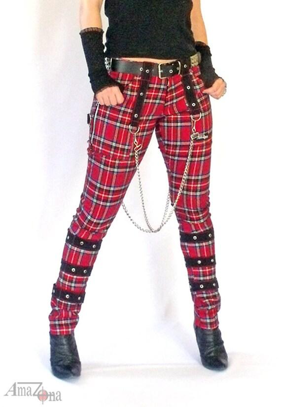 Chain tartan pants