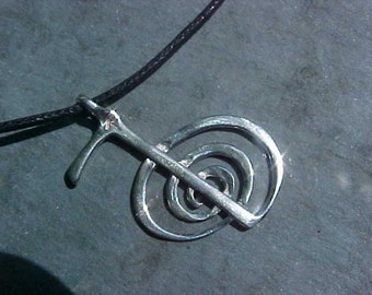 Reiki  Pendant  CHO KU REl KAM Copyrighted Custom Design In Sterling Silver or Bronze