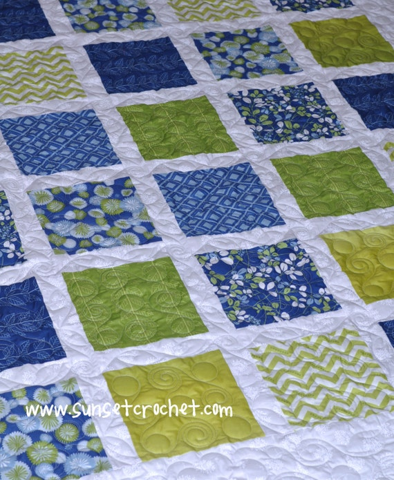Quilt Patterns From Squares : Easy Summer Squares Quilt Pattern 223