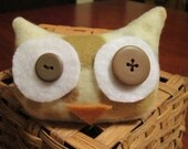 Owl Plush - Ready to Ship - Snuggly Plush Owl -Too Cute Hooty Hoots