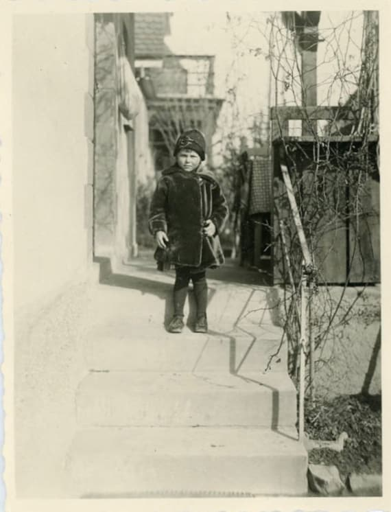 """Vintage Photo """"Ready for the Cold"""", Photography, Paper Ephemera, Snapshot, Old Photo, Collectibles - 0009"""