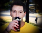 Mustache Beer Pint glass, personalized