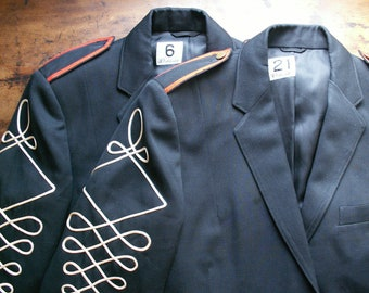 Vintage Navy Wool Band Jackets - Great  Halloween Costumes