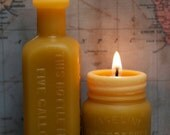 """Beeswax Candle Collection - """"Root Beer Extract -and- Vaseline"""" Sm and Md."""