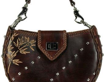 Tooled Leather Handbag - Breck