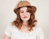 vintage 1970s hat / wool fedora / The Butterscotch