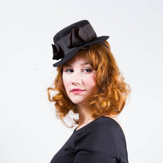 vintage 1930s hat / tilt hat / Hoffman
