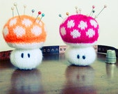Pincushion Toadstool knit pattern or knit Toy amigurumi PDF  - Instant DOWNLOAD