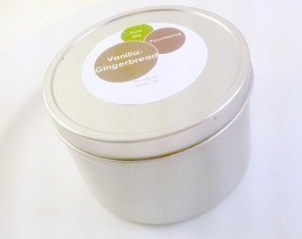 Vanilla Gingerbread Soy Candle Tin 8oz Pure Soy Candle