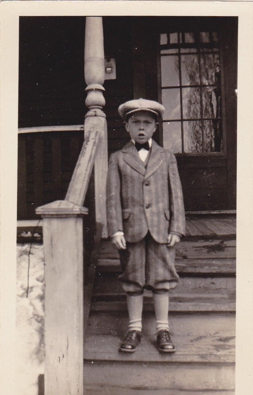 Spoiled Rotten Little Boy in Striped Knickers 1920s Vintage