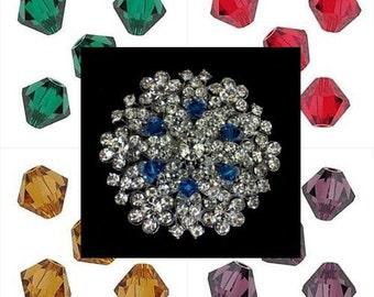 Bridal Broach, Bridesmaid Brooch, Swarovski Wedding Jewelry, Bridal Dress Jewelry, Wedding Brooch Pin, Bustier Pin, Bridesmaid Gift, NICOLE