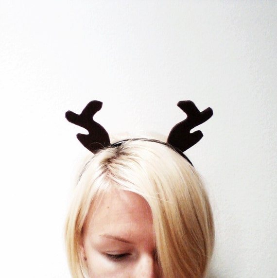 Brown Antler Headband, Halloween costume or Dress Up Brown Reindeer Antlers for All Ages