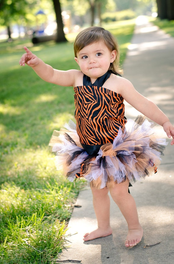 Tiger Tutu Costume for Pageants, Parties, Costume, Halloween, Dress-Up for Babies, Toddlers, and Children