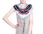"silk moth scarf - Cecropia - 26"" x 26"""