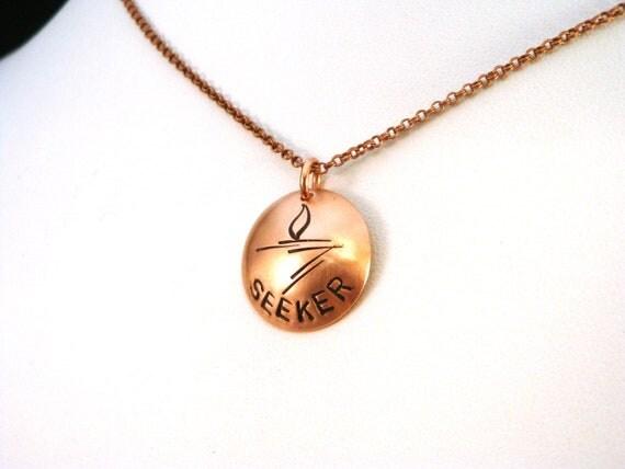 Unitarian Universalist Flaming Chalice Necklace - Seeker