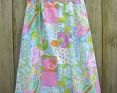 Vintage Lily Pulitzer Skirt, pastel colors, size medium