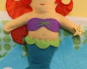Mermaid Sewing Kit, Felt Mermaid Kit, Felt Doll Kit, Beginner Sewing Kit, DIY Sewing, Hand-Stitching - 'Bubbles' Heidi Boyd