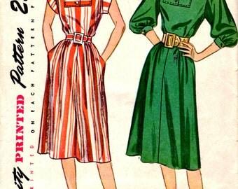 Bust 30-1940's Misses' Dress  Simplicity 2009  Size 12