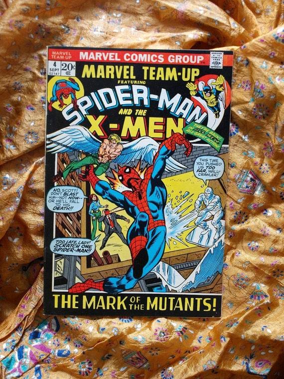 Marvel Team Up Spider Man And X Men No 4 Marvel Comics 1972 Morbius Iceman Mutants Dreams Human Torch
