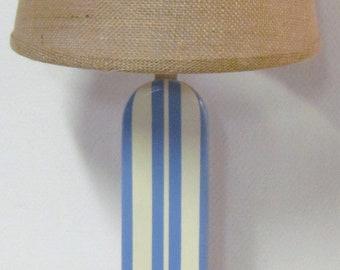 Coastal Blue Surfboard Lamp, Nursery Lamp, Kids Lamp,